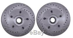 1964-72 A Body Disc Brake Kit RED Wilwood Caliper A Arms Adjustable FR Coilovers
