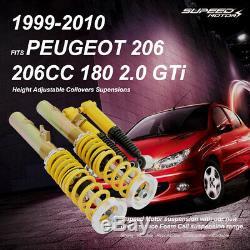 Adjustable Coilovers Kit Peugeot 206 206CC 180 2.0 GTi Hatchback Lowering