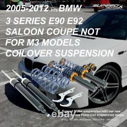 COILOVER SUSPENSION KIT For BMW 3 Series E90 E91 E92 Saloon Coupe 05-12 Adjust