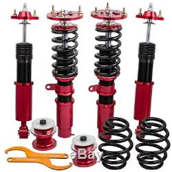 Coilover Suspension Kit for BMW 3 Series E46 98-06 Adjustable Shock Strut Red