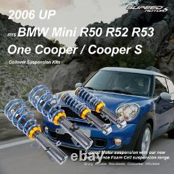 For BMW Mini R50 R52 R53 One Cooper S Adjustable Coilovers Suspension Kits