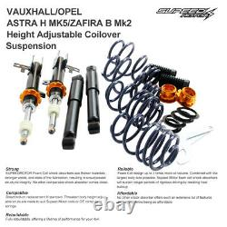 Height Adjust Coilover Suspension Kit For Vauxhall/Opel Astra H MK5/Zafira B Mk2