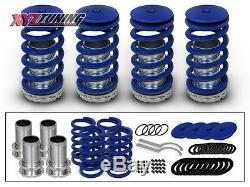 JDM BLUE Lowering Adjustable Coilover Coil Springs Kit For 92-00 Civic EG EK