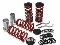 JDM RED 92-96 Prelude Adjustable Coilover Lower Springs Kit