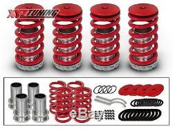 JDM RED Lowering Adjustable Coilover Coil Springs Kit For 92-00 Civic EG EK