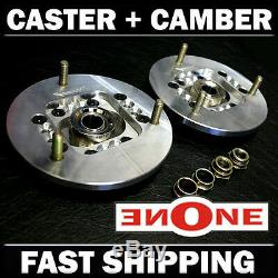 NEW! MK1 Adjustable Camber & Caster Plates BMW E36 325 For Coilover Kits