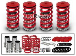 RED COILOVER LOWERING COIL SPRINGS KIT FOR 98-02 Honda Accord 4Door/Coupe