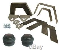 Rear Universal Weld on Kit 8 Frame Notch Triangulated 4 Link airmaxxx 2600 Bag