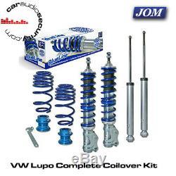 VW Lupo 1.0/1.4/16V/1.6GTi/1.4TDi/1.7SDi 99 JOM Coilovers Kit 741071